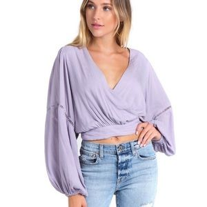 Free People Dream Girl Wrap Blouse